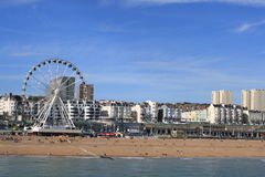 Seafront in Brighton. A shot of the seafront from Brighton pier royalty free stock photography