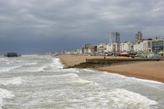 Seafront at Brighton. Sussex. England Royalty Free Stock Images