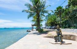 Seafront of Brigitte Bardot in Buzios, Rio de Janeiro Royalty Free Stock Photography