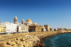 Seafront of Cadiz in Spain. Royalty Free Stock Photo