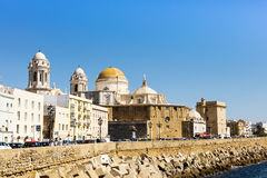 Seafront of Cadiz in Spain. Stock Images