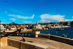 View from the sea of Cascais in Portugal. Royalty Free Stock Photos