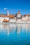 Seafront And Church Towers - Trogir, Croatia stock photo
