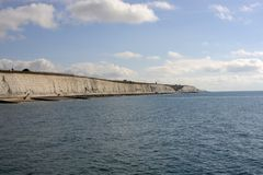 Seafront and cliffs at Brighton. England Stock Photos