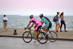 Seafront cycling Royalty Free Stock Photography