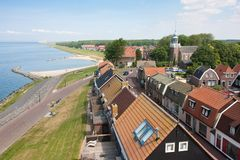 Seafront of a Dutch fishing village Royalty Free Stock Image