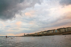 Seafront in Hastings, UK. Royalty Free Stock Photo