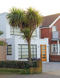 Seafront home modern architecture Stock Images