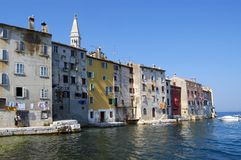 Seafront Homes, Rovinj, Croatia Royalty Free Stock Images