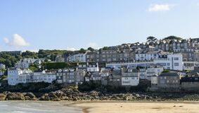 Seafront houses, ST. Ives, Cornwall Royalty Free Stock Images