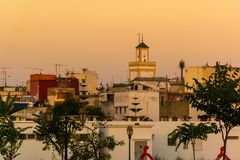 Seafront and Kasbah in medina of Rabat, Morocco. In Africa royalty free stock photography