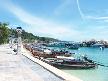 Seafront at the Koh Phi Phi Don island, Thailand royalty free stock image