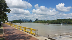Seafront at the Koh Phi Phi Don island, Thailand royalty free stock photography