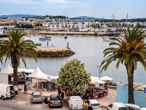 On the seafront in Lagos, Portugal royalty free stock image