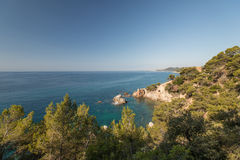 Seafront of Lloret de Mar Costa Brava Royalty Free Stock Photos