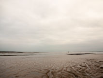 Seafront mud scene of empty river overcast day Stock Photo