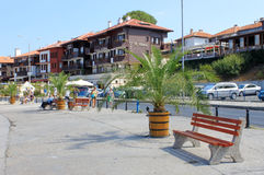 Seafront in Nessebar Royalty Free Stock Images