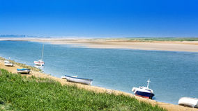 Seafront in Northern France. The Bay of Somme in the North of France stock image