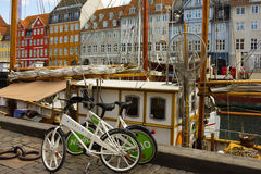 Seafront Nyhavn in Copenhagen, Denmark Stock Photos