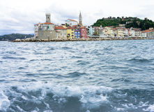 Seafront of old town Stock Photo