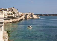 Seafront of Ortigia Royalty Free Stock Photo