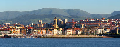 Seafront and pier of Getxo Royalty Free Stock Image