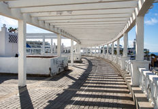Seafront promenade along Las Americas beach Stock Photo