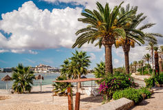 Seafront promenade of Ibiza Royalty Free Stock Image