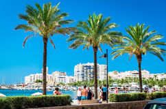 Seafront promenade of Ibiza Royalty Free Stock Photo