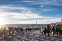 Seafront promenade, Naples, Italy Stock Image