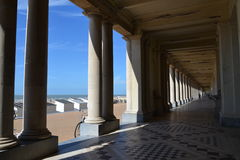 Seafront promenade in Oostende, Belgium Royalty Free Stock Photos