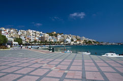 The seafront promenade in Sitia Stock Photography
