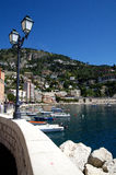 Seafront promenade in Villefranche Sur Meer at french riviera Royalty Free Stock Image