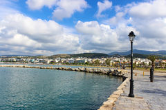 Seafront of Rethymnon city Royalty Free Stock Photo
