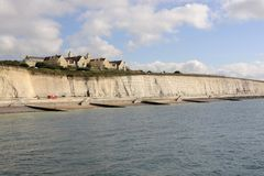 Seafront and Roedean school at Brighton. England Stock Photos