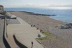 Seafront at Rottingdean, Sussex, England stock photos