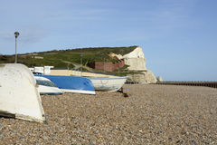 Seafront at Seaford, East Sussex, England Stock Photo