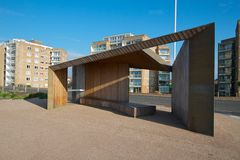 Seafront shelter Royalty Free Stock Image