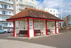 Seafront shelter, Bexhill Stock Photography