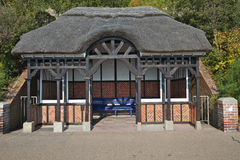 Seafront shelter, Eastbourne Royalty Free Stock Photo