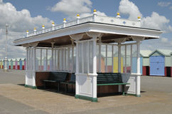 Seafront shelter. Hove. Sussex. UK Stock Photo
