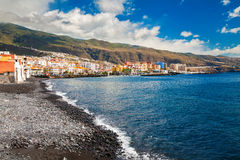 Seafront in the small town Candelaria Royalty Free Stock Images