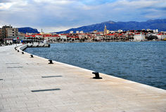 Seafront of Split old town, Croatia Stock Photo