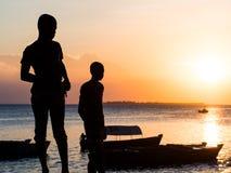 Seafront in Stone Town, Zanzibar, Tanzania Royalty Free Stock Images