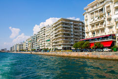 Seafront of Thessaloniki Stock Image