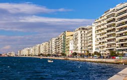 Seafront in Thessaloniki Royalty Free Stock Photography