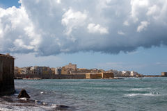 Seafront in Trapani. Northern seafront in Trapani, Sicily, Italy Royalty Free Stock Photo