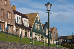 Seafront of Urk, an old Dutch fishing village. Stock Photo