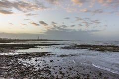 Seafront view of lighthouse El Hank Casablanca Stock Photos