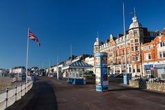 Seafront in Weymouth, Dorset, UK. Stock Image